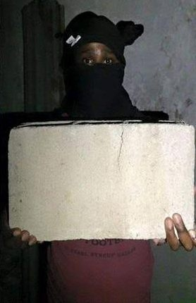 Masked Man Steals The Stadium Foundation Stone Messi Laid In Gabon [See Photo]